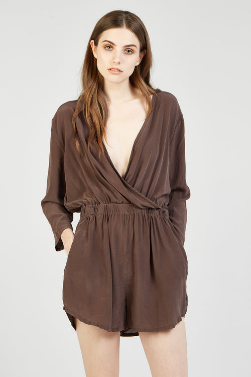 SAINT TROPEZ JUMPSUIT - WALNUT