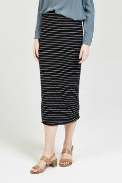 CAND TUBE SKIRT - CHARCOAL STRIPE