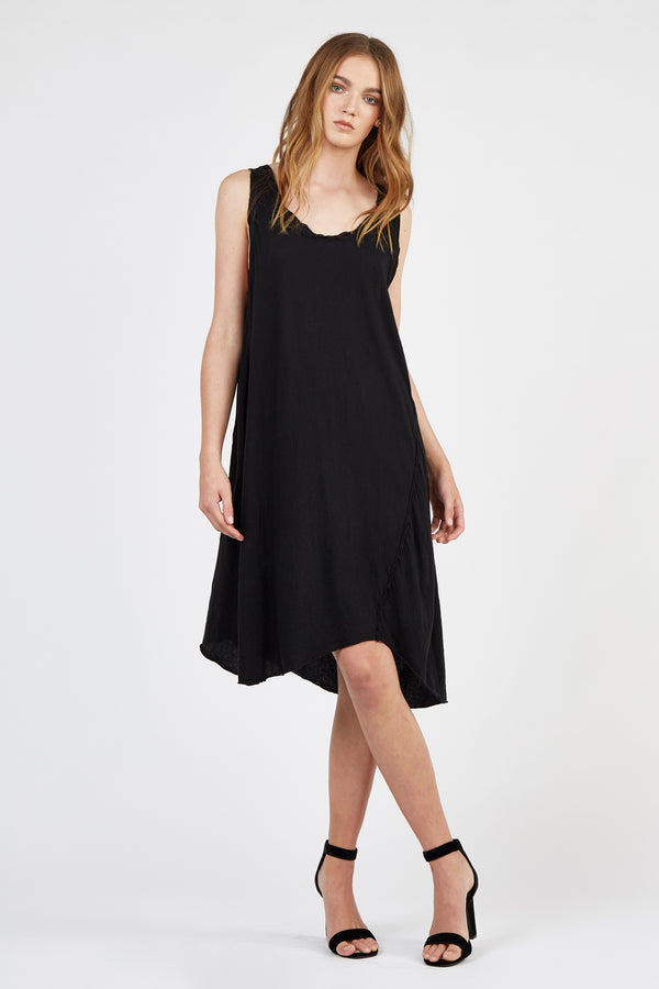COTSI SINGLET DRESS - NOIR