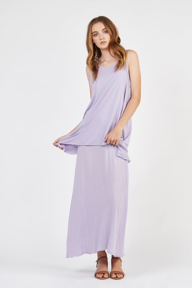 WHISPER LONG DRESS - LILAC (FINAL SALE)
