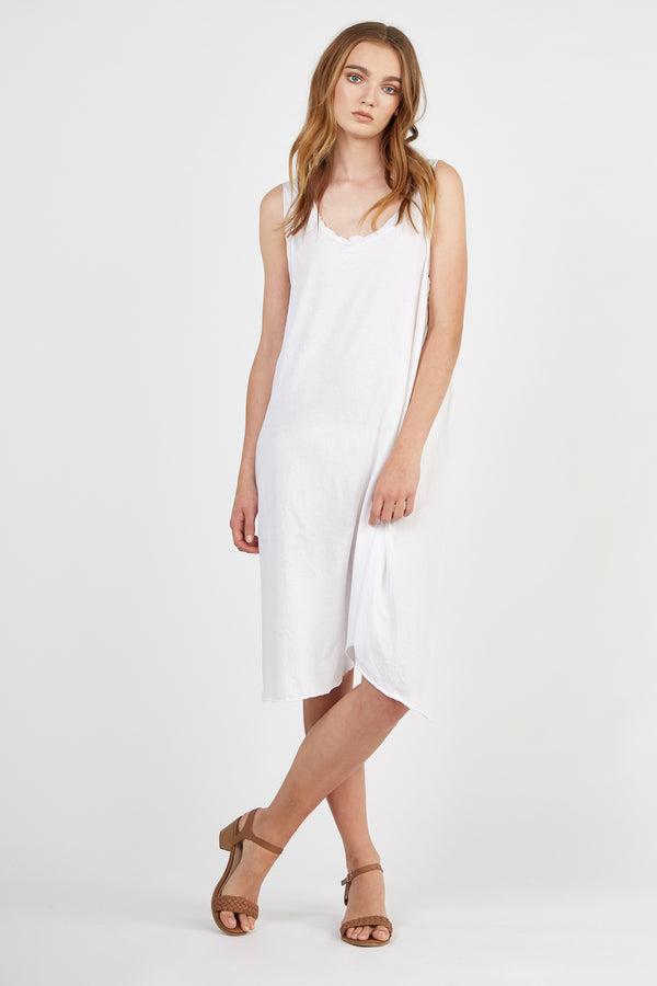 COTSI SINGLET DRESS - BLANC