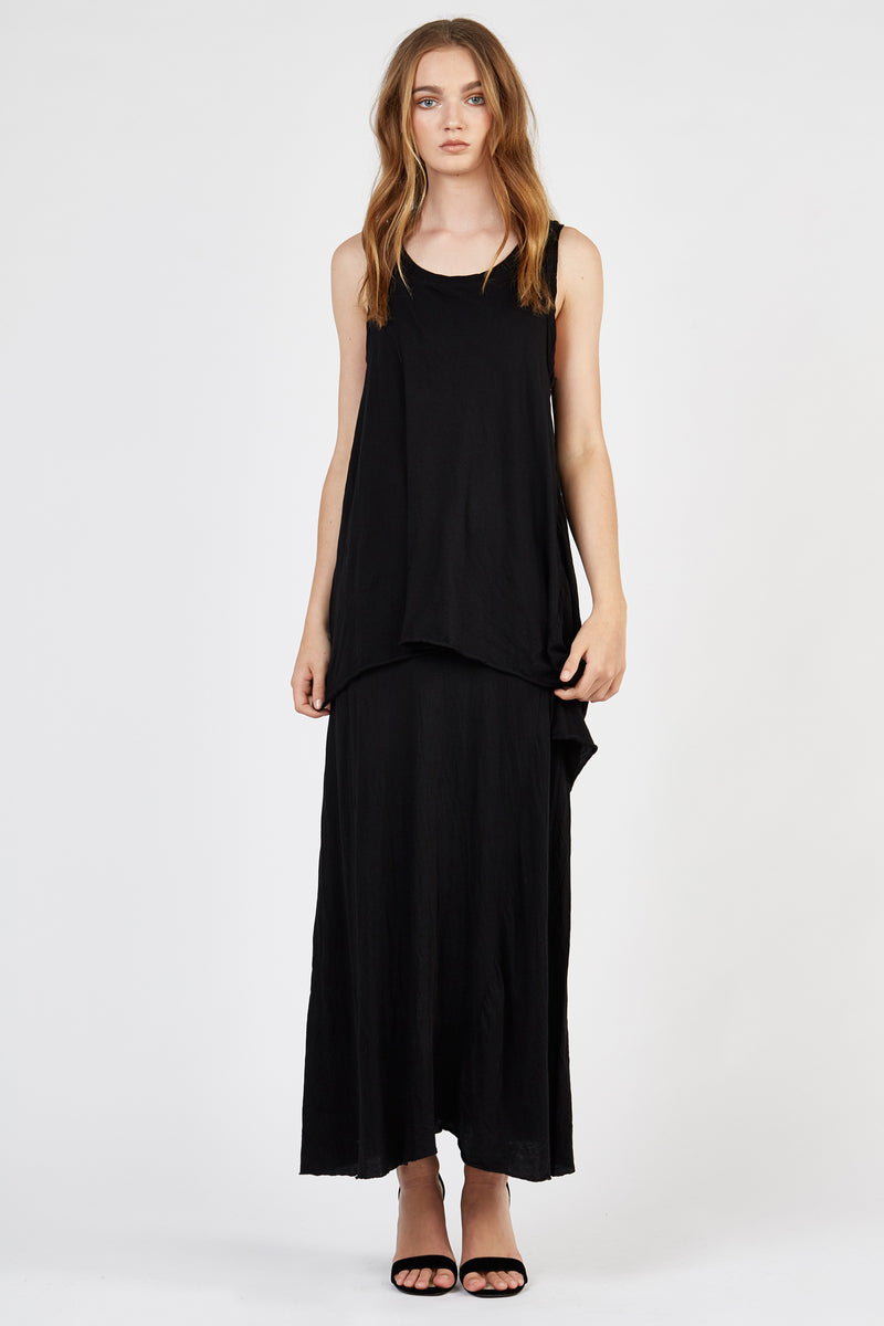 WHISPER LONG DRESS - NOIR