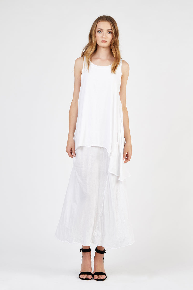WHISPER LONG DRESS - BLANC - SIZE 1 LEFT