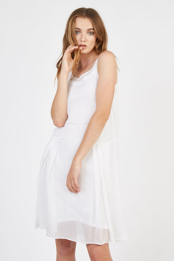 TALLOWS SILK TUNIC - BLANC (FINAL SALE)