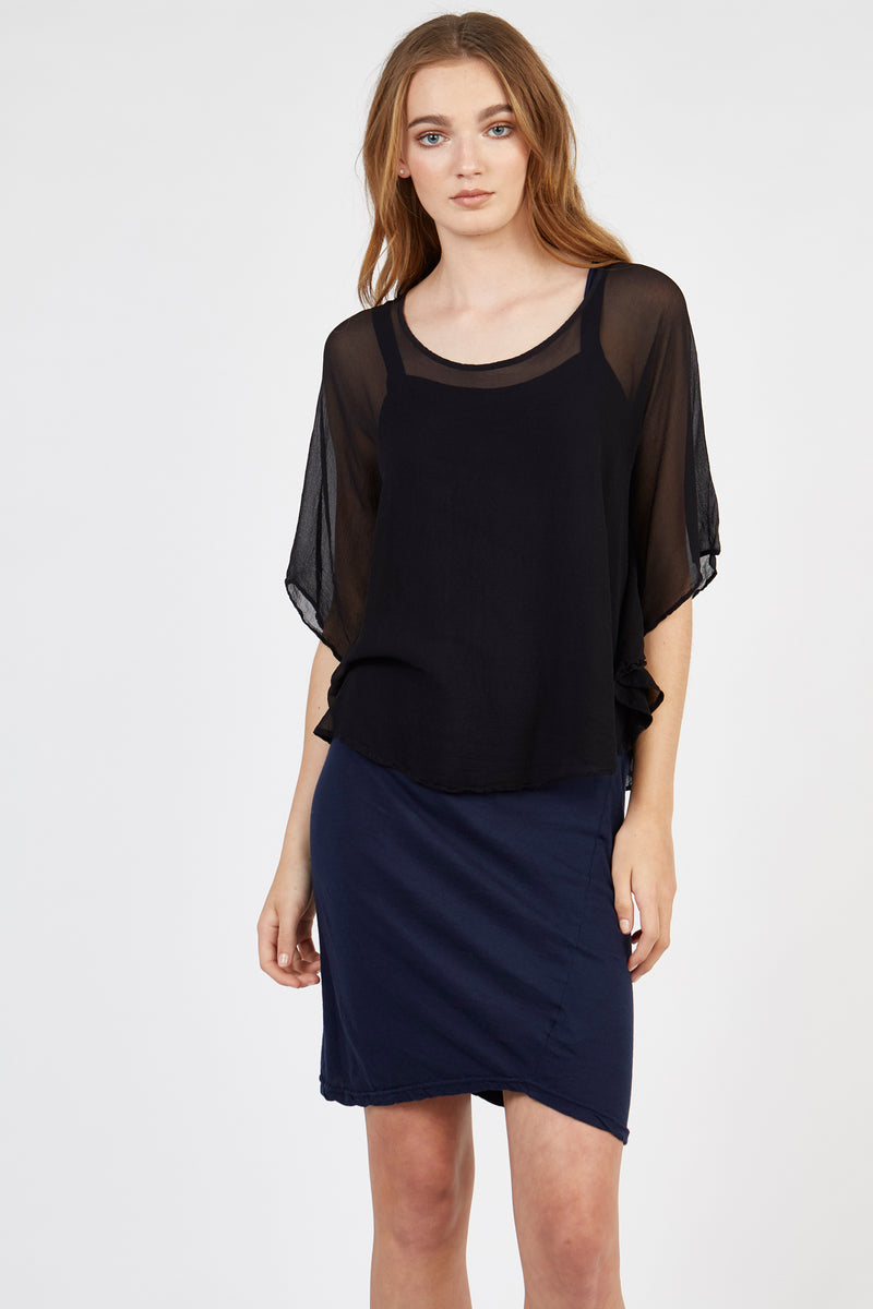 TALLOWS TOP - NOIR
