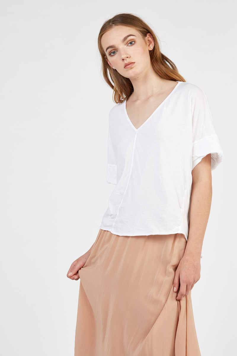 TREW SHORT TEE - BLANC (FINAL SALE)