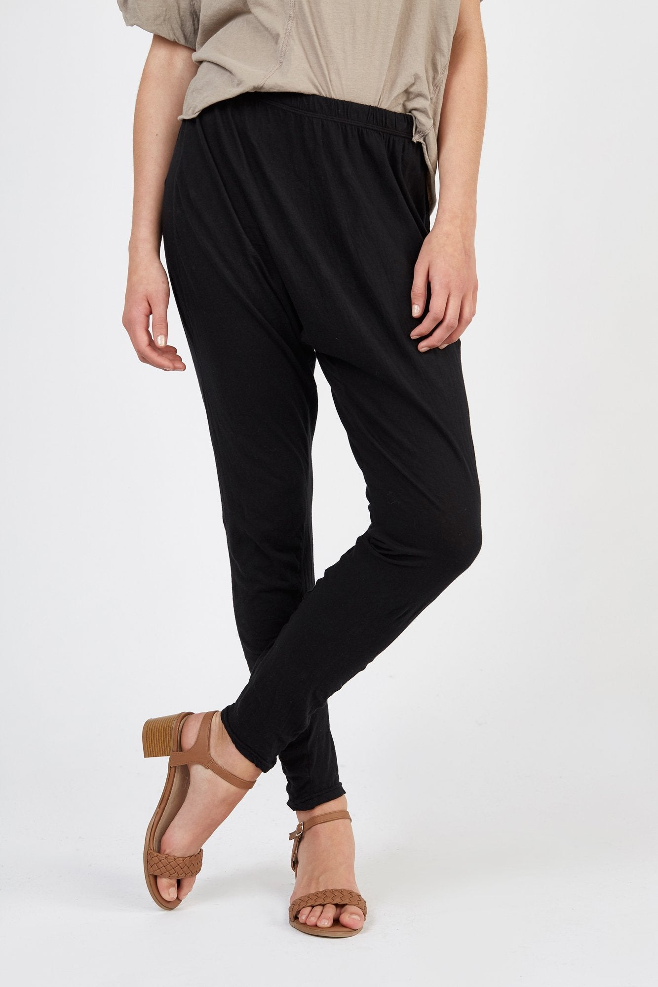 COTSI TWISTY PANT - NOIR