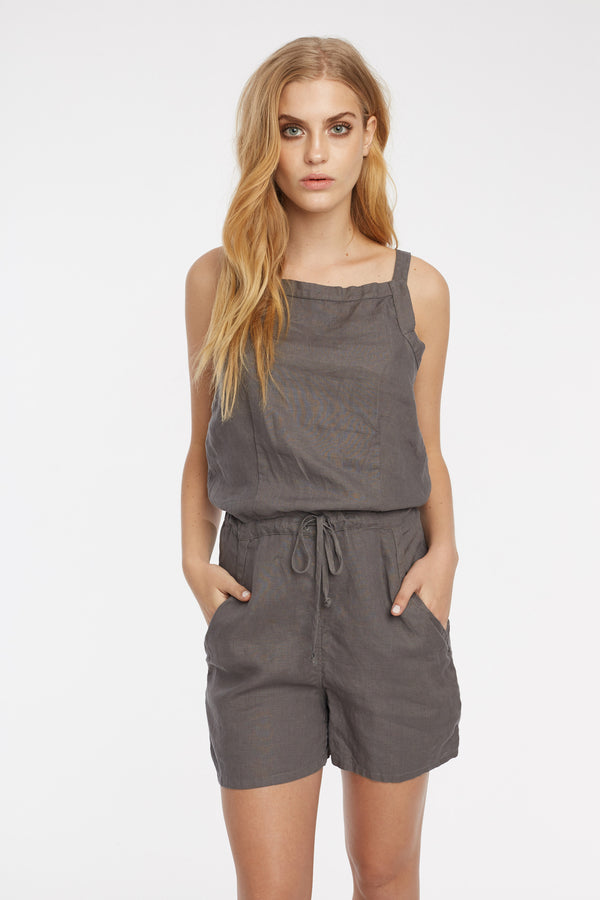 LIN PLAYSUIT - WOODEN - SIZE 3 LEFT