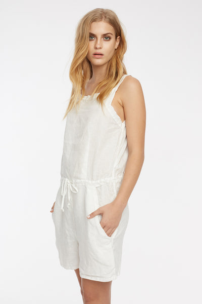 LIN PLAYSUIT - BLANC