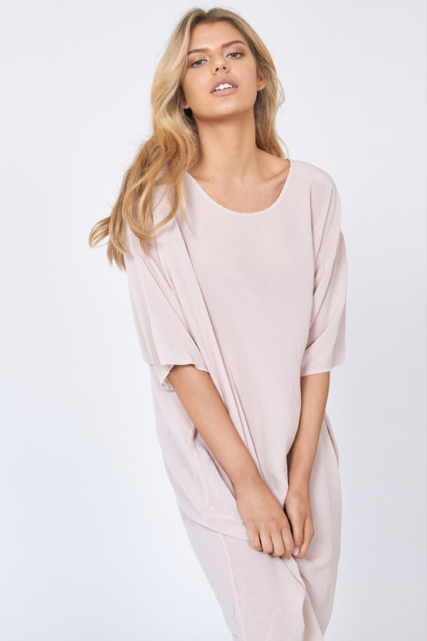 GOOD VIBES DRESS - NOMAD TAUPE - SIZE 1 LEFT