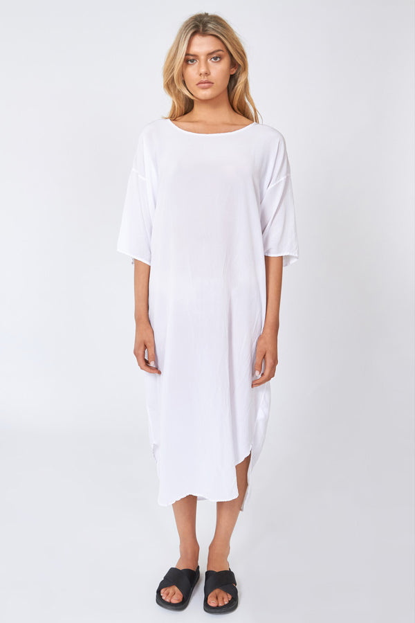GOOD VIBES DRESS - BLANC