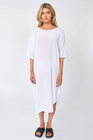 WISHY SHIRT DRESS - CREAMY