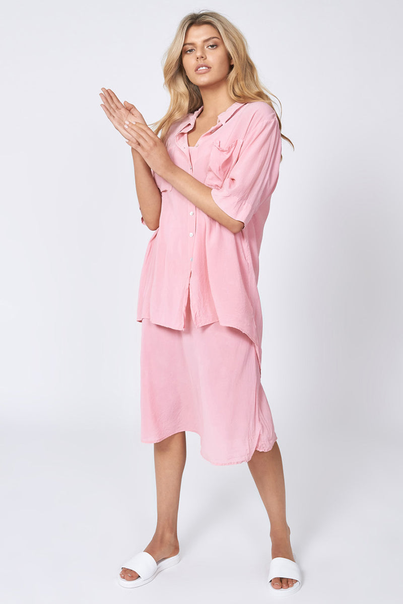 MARINA SHIRT - BLUSH PINK