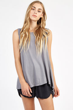 VERY TANK TOP - FOSSIL GREY