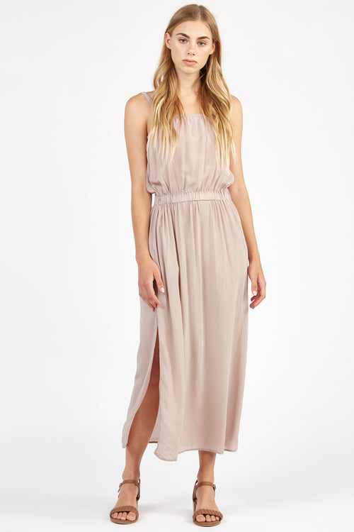 RITZ DRESS - TAUPE