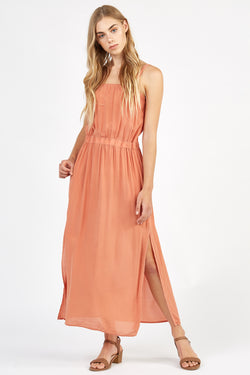 RITZ SILK DRESS - PEACHES (FINAL SALE)