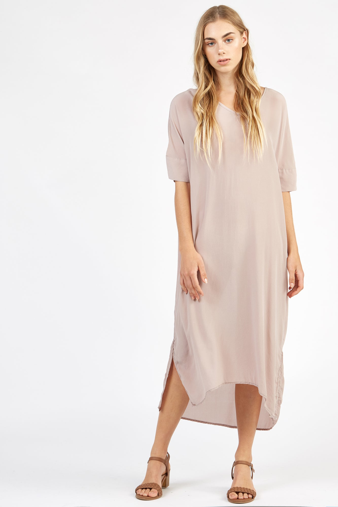 WILLA DRESS - TAUPE