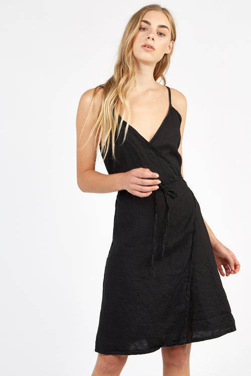 WRAPETTE DRESS - NOIR