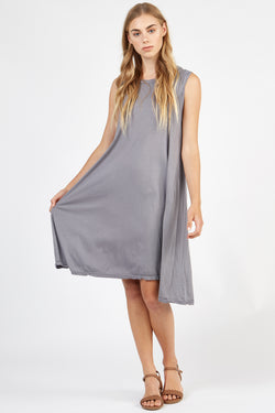VERY TANK DRESS - FOSSIL GREY
