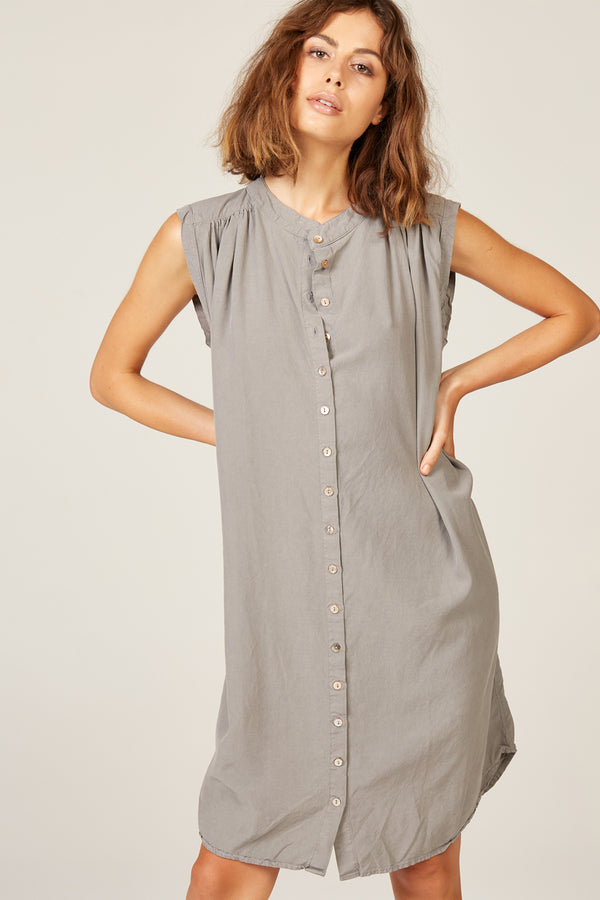 OTTO DRESS - CHARCOAL GREY