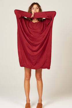 LUNA DRESS - WINE