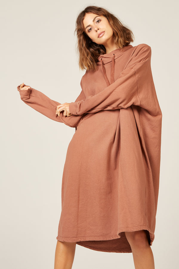 HIWA JUMPER DRESS - CINNAMON