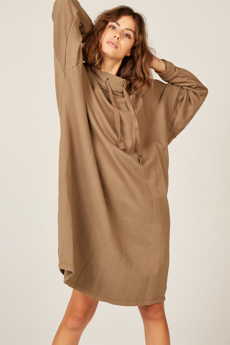 HIWA JUMPER DRESS - KHAKI