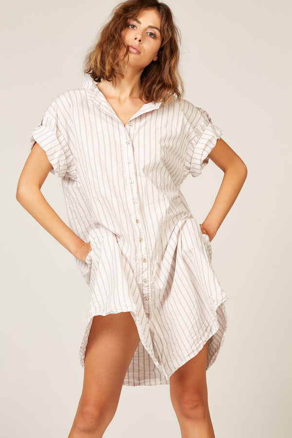 BONNY SHIRT DRESS - BEACH STRIPE (PRE-ORDER)