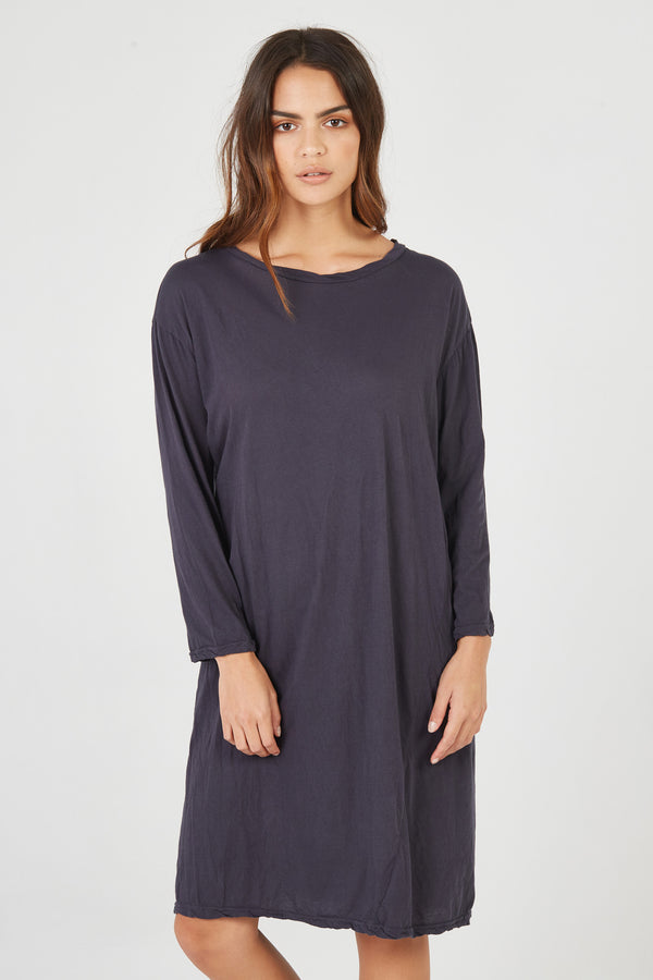 HAP L/S DRESS - SMOKED CHARCOAL