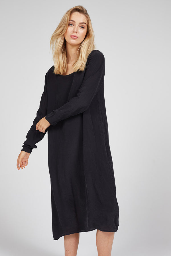 SLOUCHED DRESS - NOIR