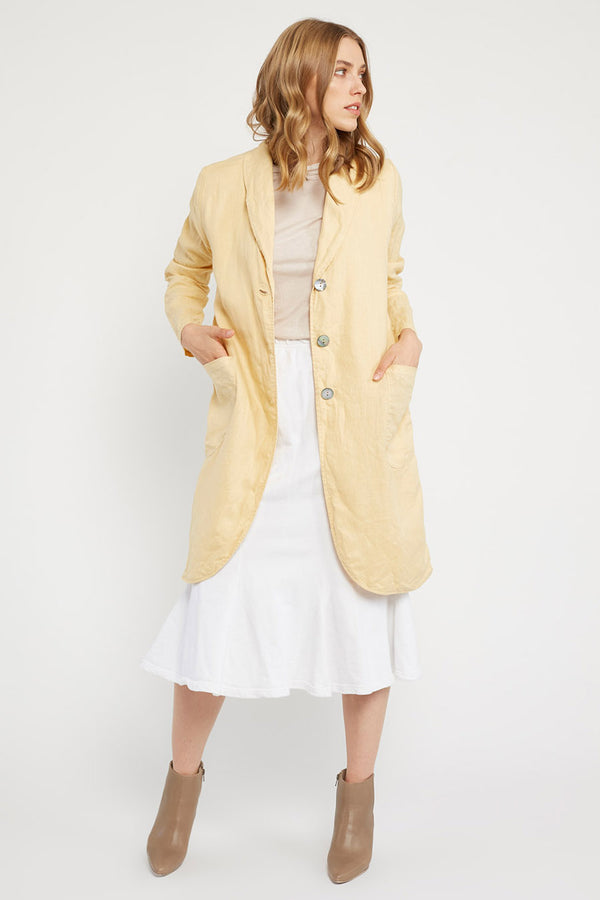 LONG LIN JACKET - BUTTERCUP