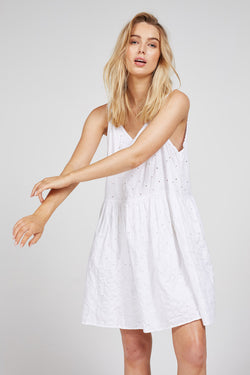CILE TANK DRESS - BLANC - SIZE 2 LEFT