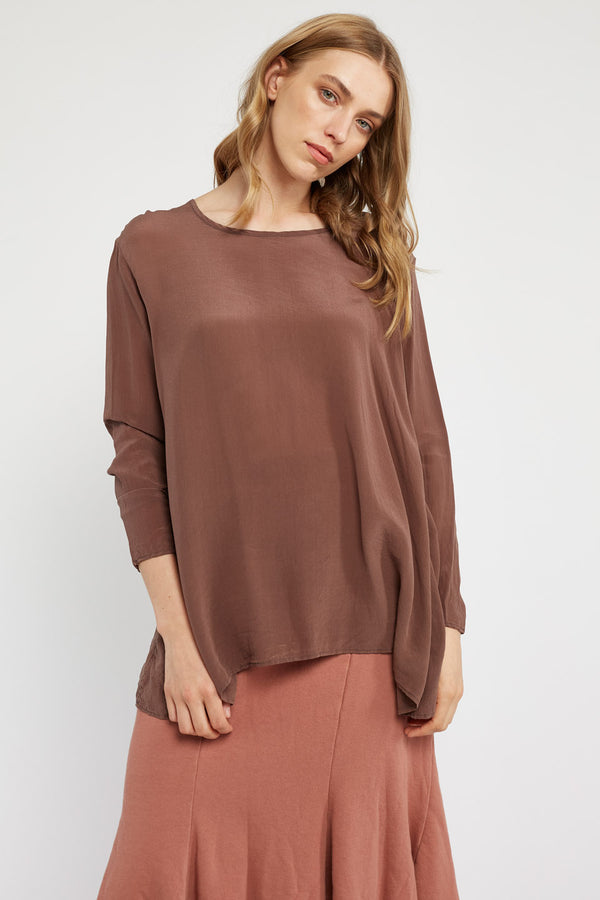 GIGI L/S TOP - CHOCOLATE