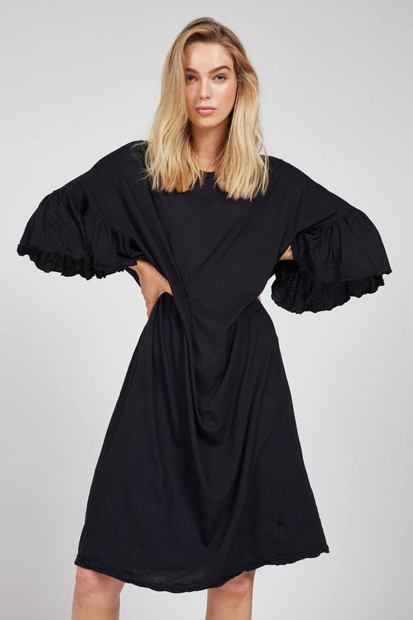 SPINDY DRESS - NOIR