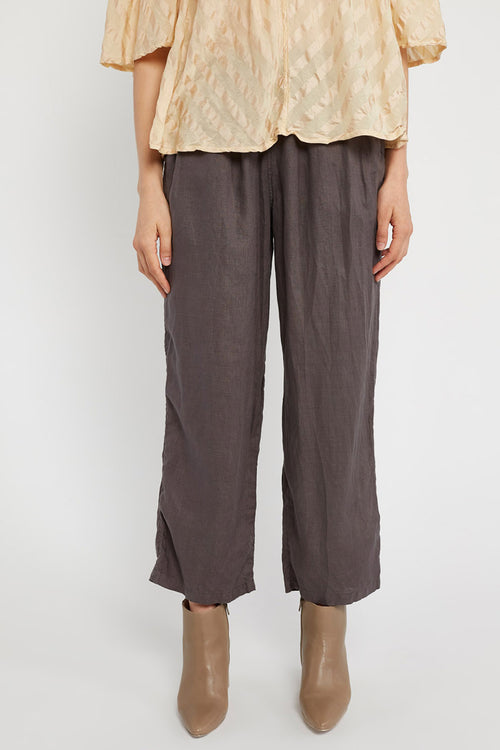LIN LOOSE PANT - WOODEN
