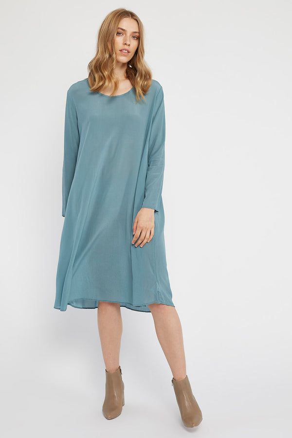 GIGI L/S DRESS - LAGOON
