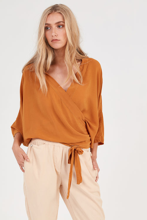 FLUTED TOP - RUST - SIZE 3 LEFT