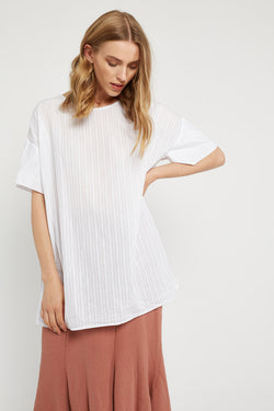 TEXTURED TOP - BLANC (FINAL SALE)