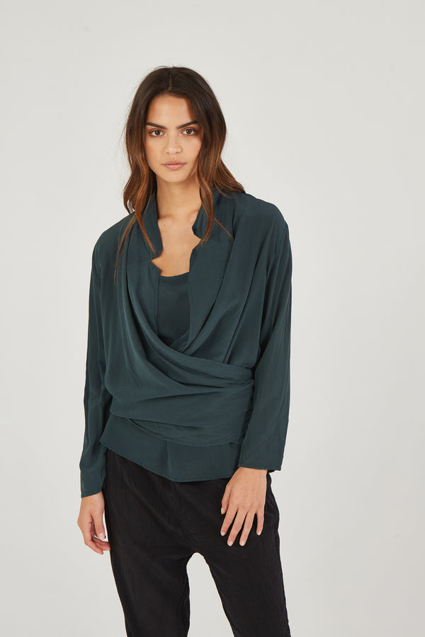 BOMAN WRAP SHIRT - JUNIPER