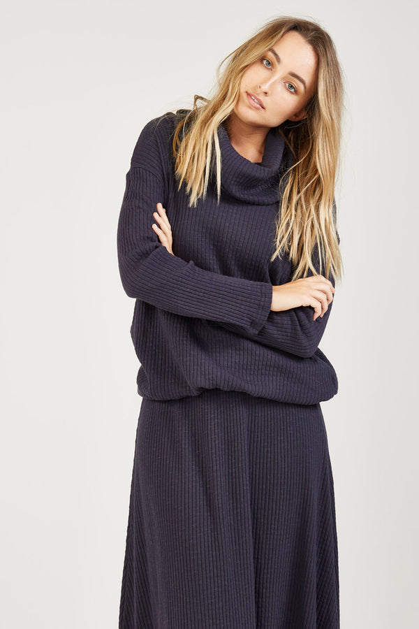 DEWY JUMPER - BLUEY CHARCOAL - SIZE 3 LEFT