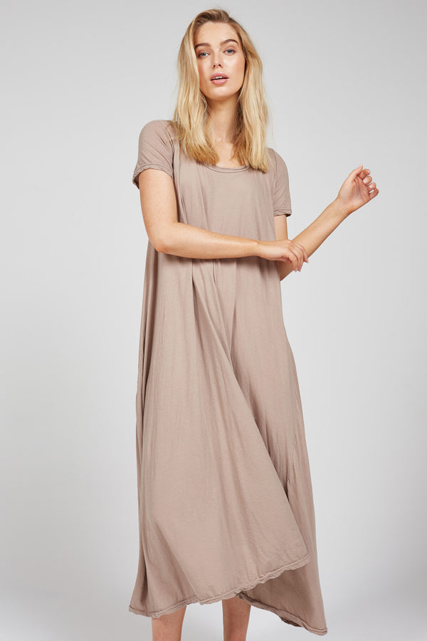 QUOET TEE DRESS - DRY WOOD (PRE-ORDER)