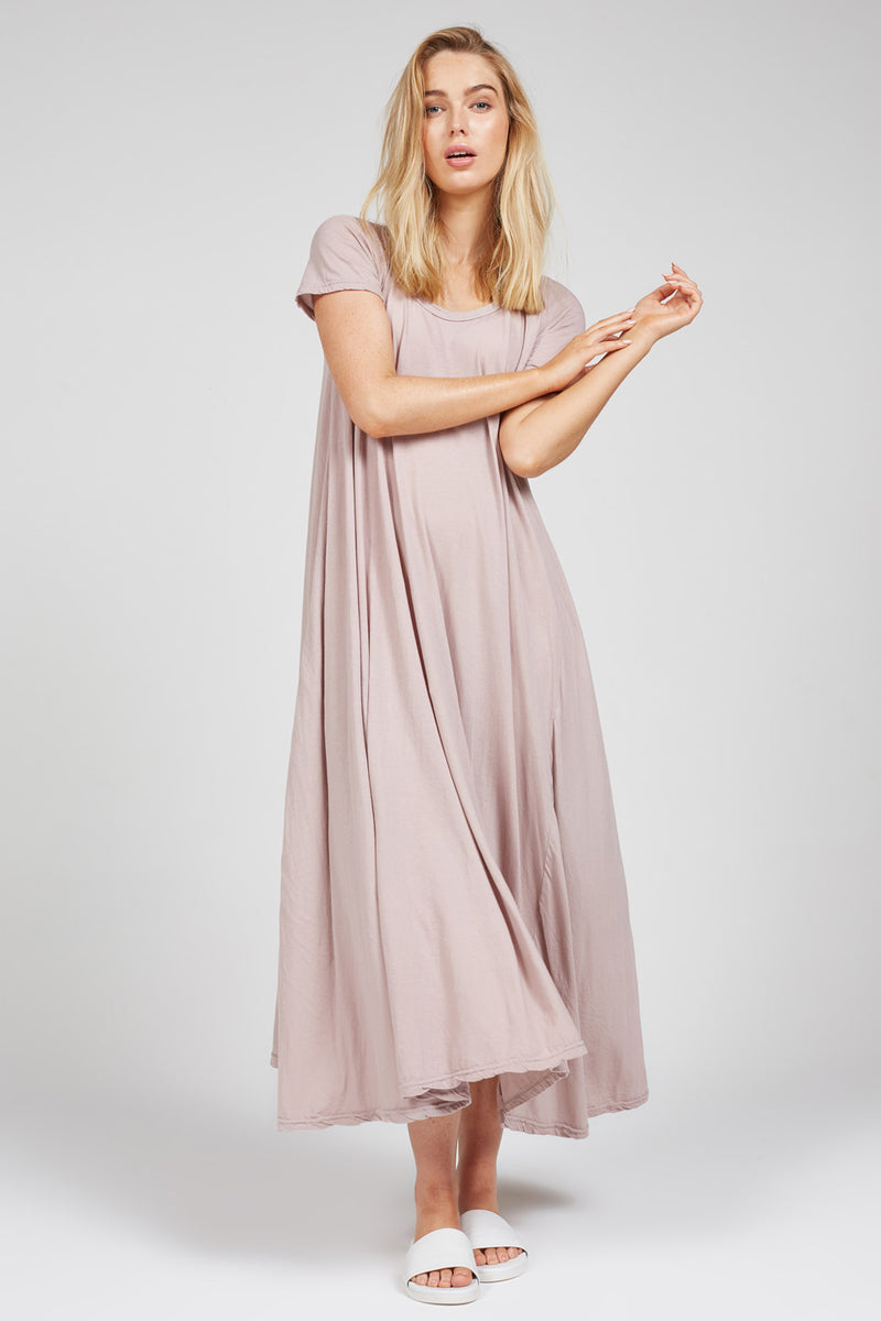 QUOET TEE DRESS - ROSY BROWN