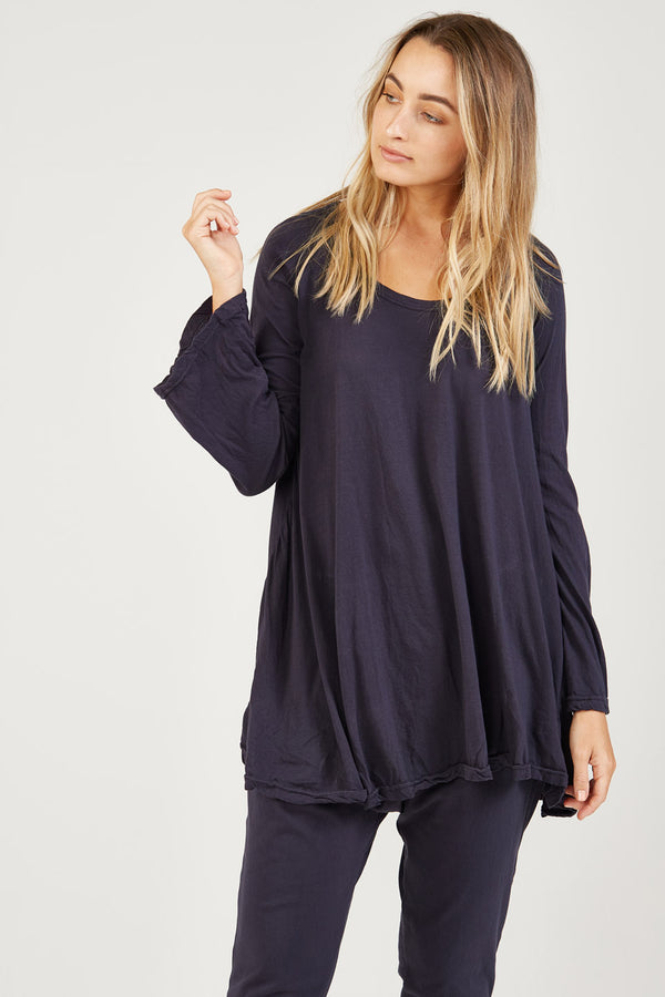 BELLA TOP - BLUEY CHARCOAL