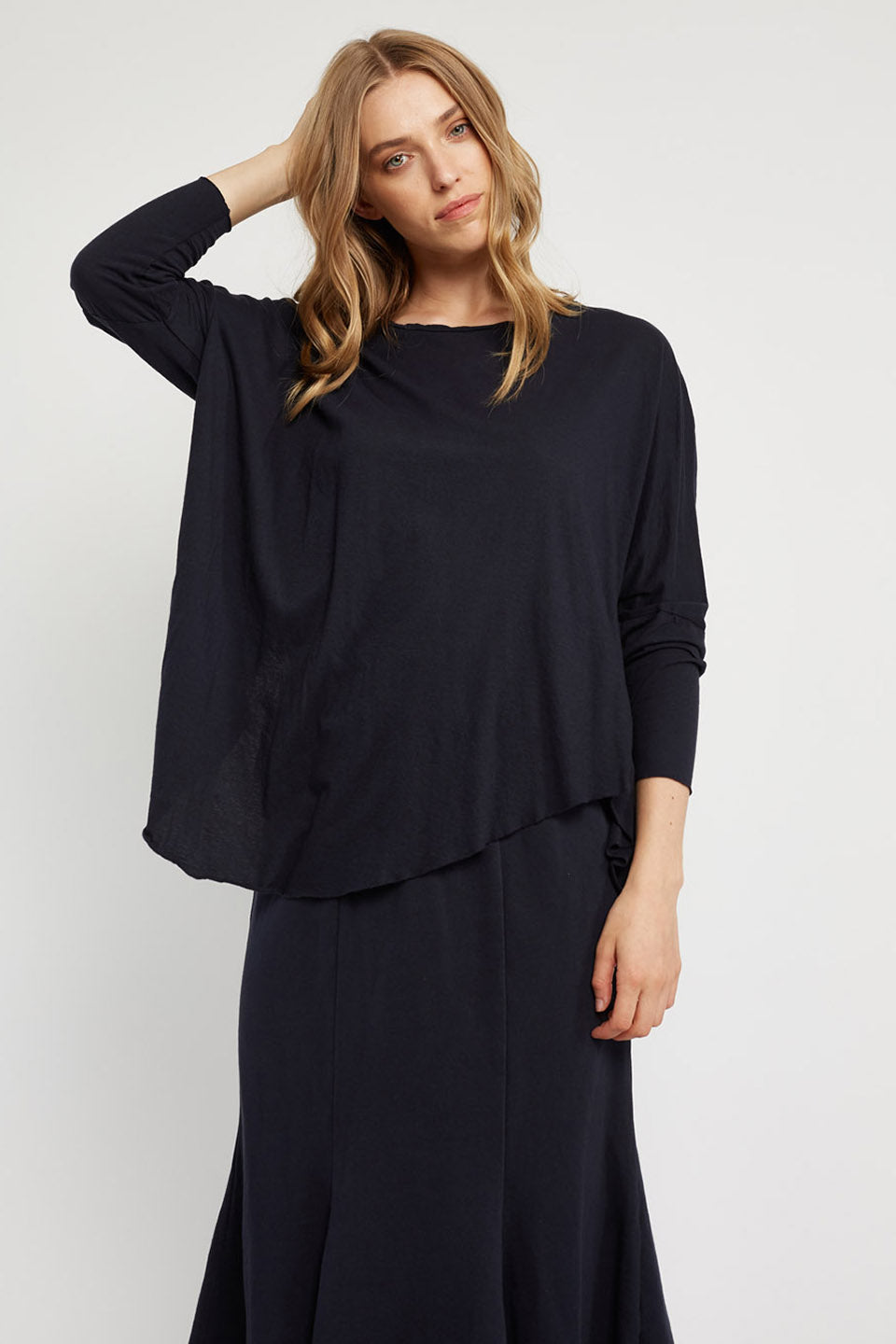 FAXI L/S TOP - DARK NAVY