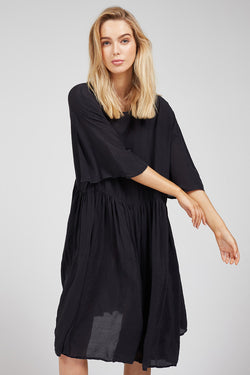 HUBBLE TEE DRESS - NOIR