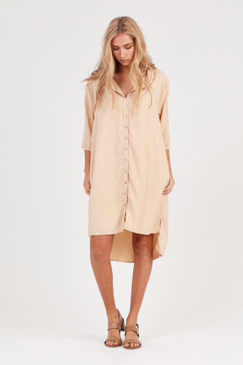 KUL SHIRT DRESS - FAWN