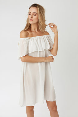 CRUZ DRESS - BLANC - SIZE 1 LEFT