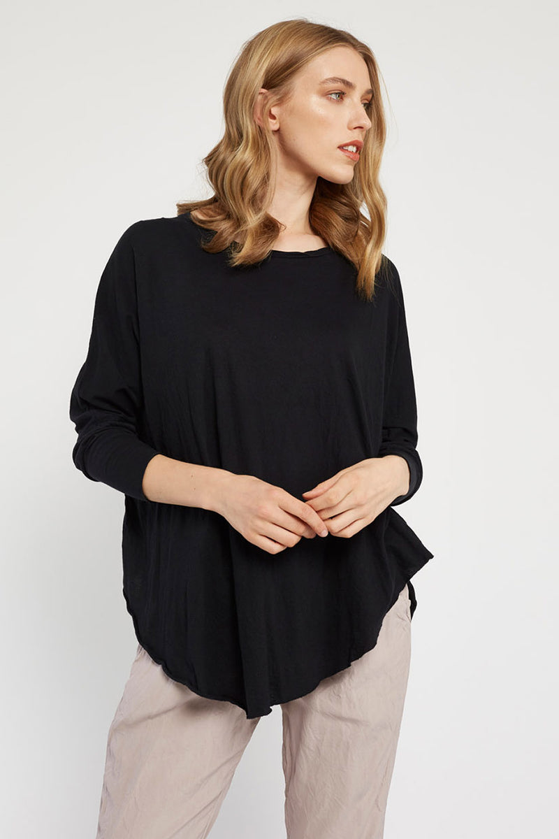 FAXI L/S TOP - NOIR