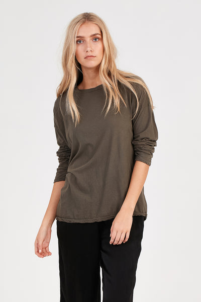 L/S DROPPED SHOULDER - OLIVE - PRE ORDER
