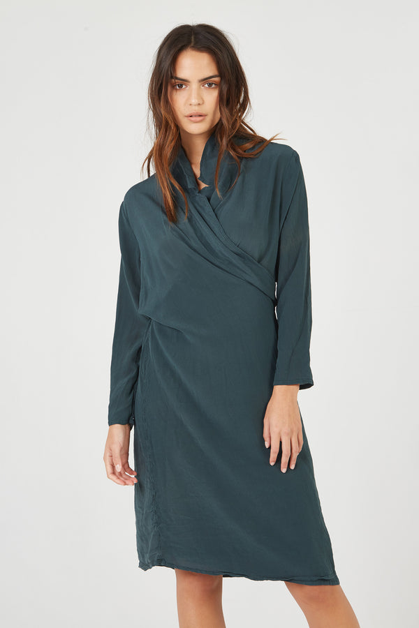 BOMAN WRAP DRESS - JUNIPER